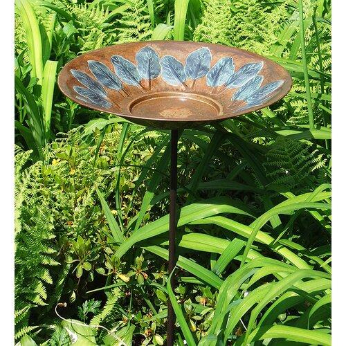 ACHLA Leaf Birdbath with Stand