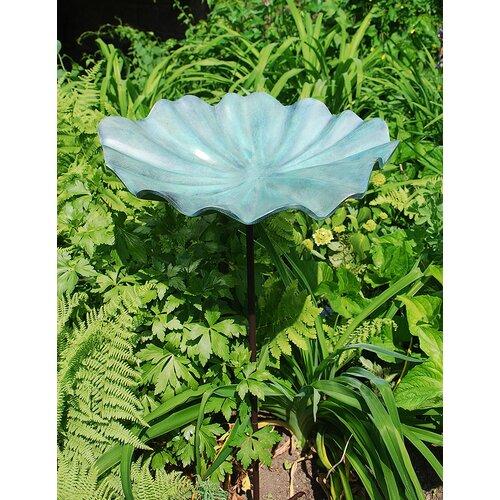 ACHLA Lily Leaf Birdbath