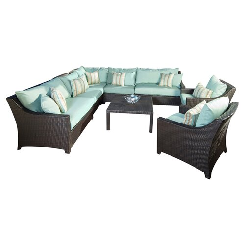 RST Brands Bliss Deco 9 Piece Deep Seating Group with Cushions