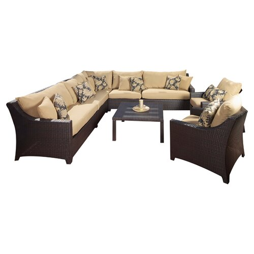 RST Outdoor Delano 9 Piece Deep Seating Group with Cushions