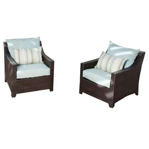 RST Outdoor Bliss Club Chair with Cushions (Set of 2)