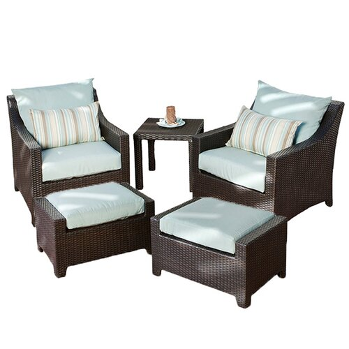 RST Outdoor Bliss 5 Piece Deep Seating Group with Cushions