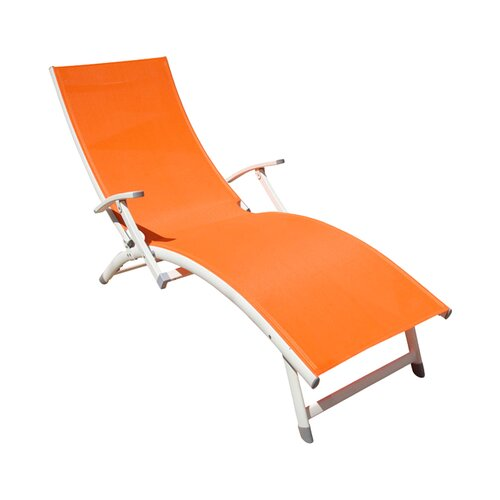 Rst brands outdoor sol sling folding chaise lounge - Folding outdoor chaise lounge ...
