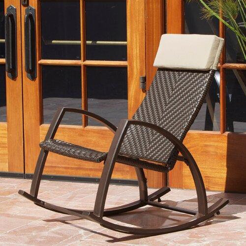 RST Brands Outdoor Barcelona Wicker Rocker Chair & Reviews  Wayfair
