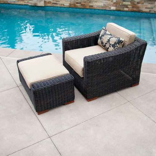 RST Outdoor Resort Club Chair and Ottoman