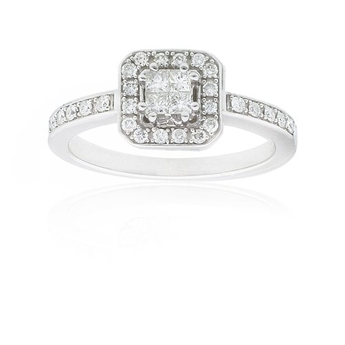 A Jewelers 14k White Gold 1/3ct TDW Diamond Composite Ring