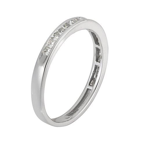 14k White Gold 2/5 CTW Channel Set Diamond Wedding Ring
