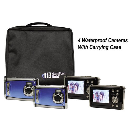 "Hamilton Electronics Ruggedized Four Digital Cameras Kitwith Flash and 2.4"" LCD, Curriculum Guide"