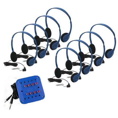 Hamilton Electronics Kids 8 Station Jackbox Listening Center with Personal Headphones