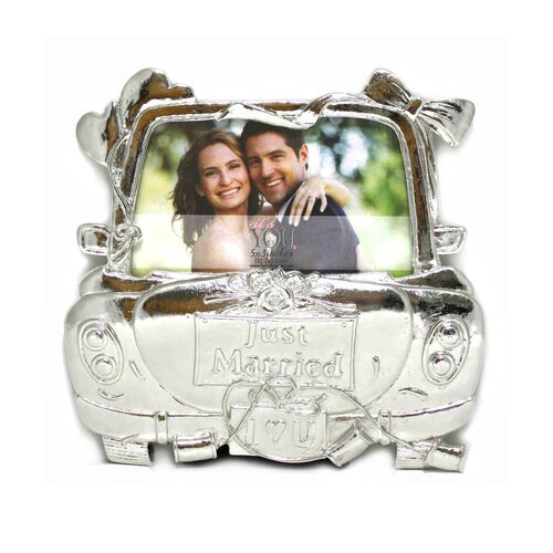 Wedding Twanda Just Married Picture Frame