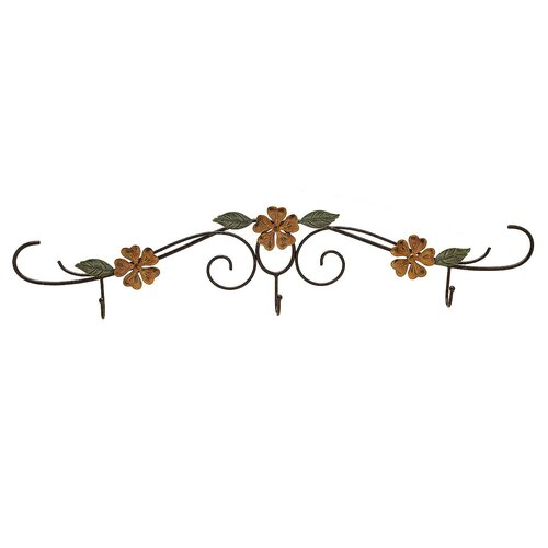 Fetco Home Decor Stylish Functional Adallyn 3 Hook Rack