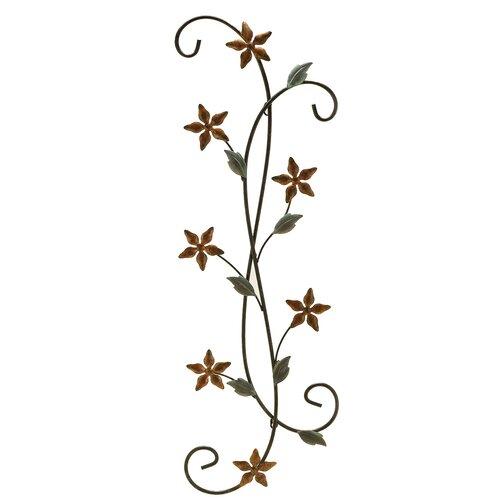 Fetco Home Decor Katelyn Floral Scroll Wall Décor