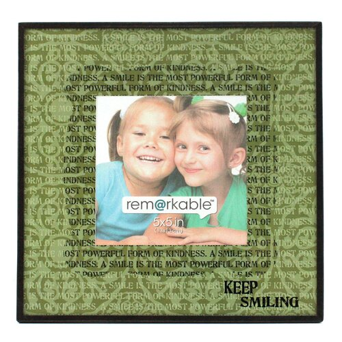 Fetco Home Decor Expressions Keep Smiling Photo Frame