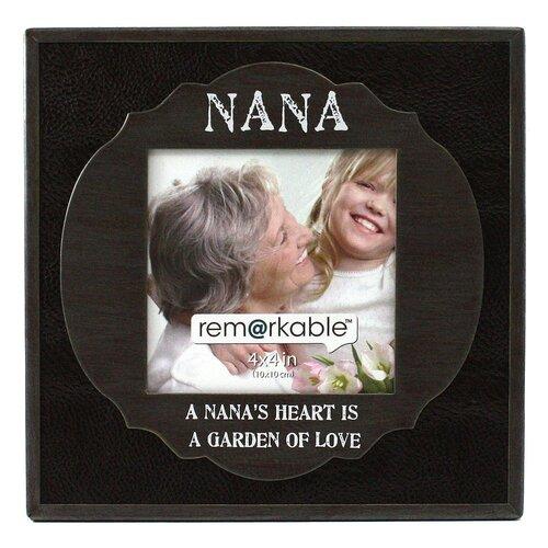 Fetco Home Decor Expressions Nana's Heart is a Garden of Love Photo Frame
