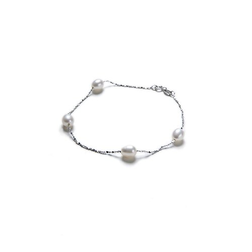 Eco Opulence Tin Cup Cultured Pearl Bracelet