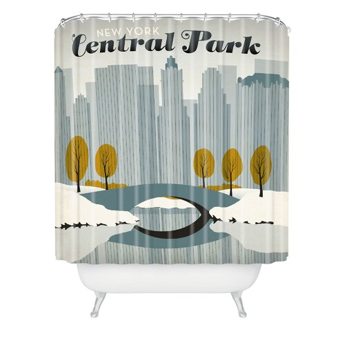 DENY Designs Anderson Design Group Woven Polyester Central Park Snow Shower Curtain