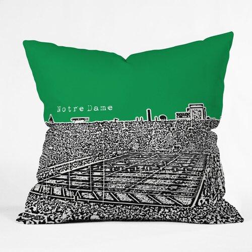 Bird Ave Notre Dame Woven Polyester Throw Pillow