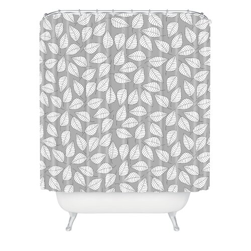 DENY Designs Bianca Woven Polyester Leafy Shower Curtain