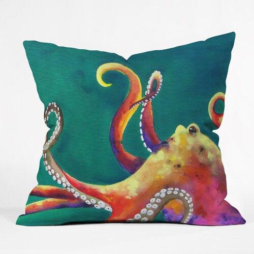 Clara Nilles Mardi Gras Octopus Woven Polyester Throw Pillow