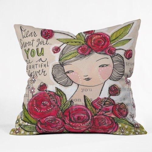 Cori Dantini Dear Sweet Girl Woven Polyester Throw Pillow