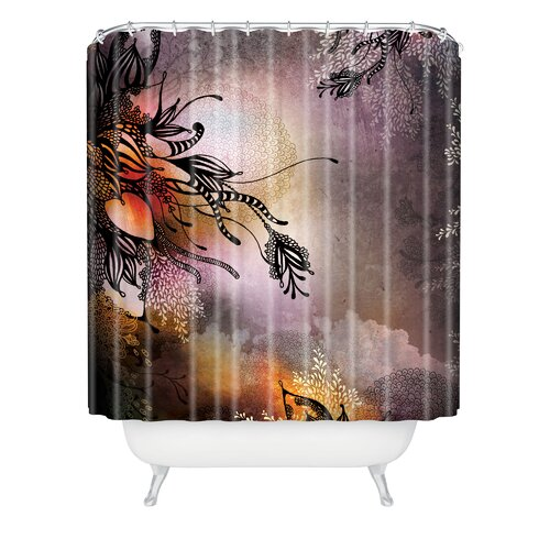 Iveta Abolina Woven Polyester Purple Rain Extra Long Shower Curtain