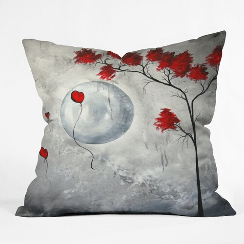 DENY Designs Madart Inc  Far Side Of The Moon Indoor / Outdoor Polyester Throw Pillow