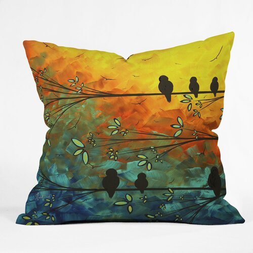 Madart Inc. Birds Of A Feather Woven Polyester Throw Pillow