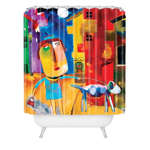 DENY Designs Robin Faye Gates Polyester Sylvia Needs Eggs Shower Curtain