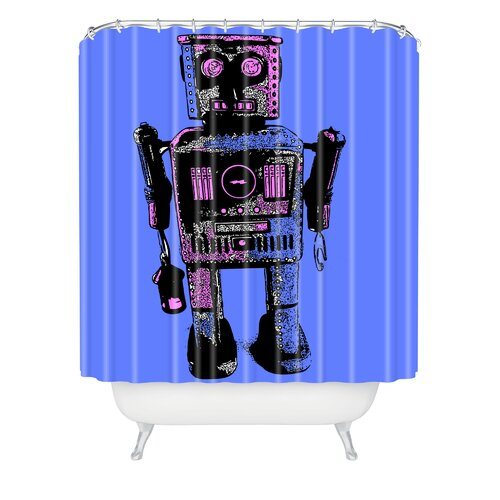 Romi Vega Polyester Lantern Robot Shower Curtain