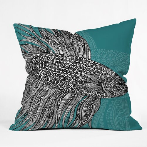 DENY Designs Valentina Ramos Beta Fish Indoor/Outdoor Polyester Throw Pillow