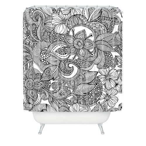 Valentina Ramos Woven Polyester Doodles Shower Curtain