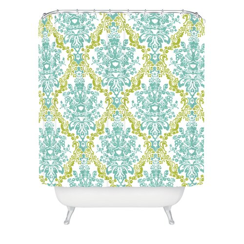 DENY Designs Rebekah Ginda Design Lovely Damask Shower Curtain