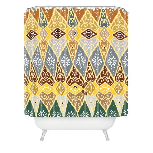 Romi Vega Polyester Diamond Tile Shower Curtain
