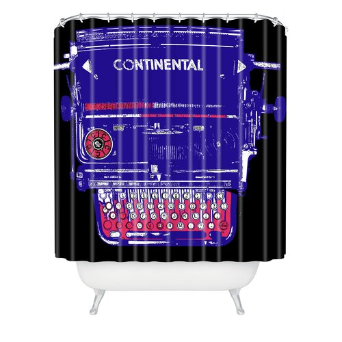 Romi Vega Polyester Continental Typewriter Shower Curtain