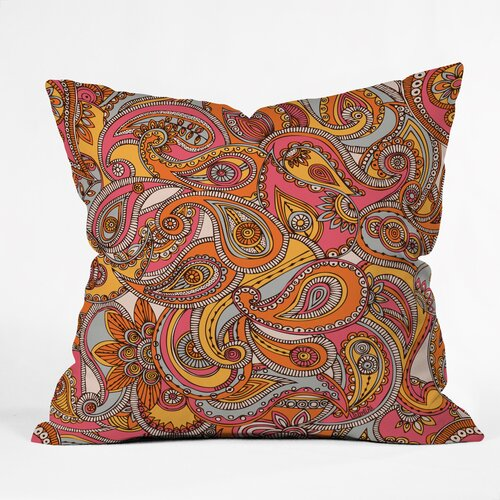 Valentina Ramos Spring Paisley Indoor/Outdoor Polyester Throw Pillow