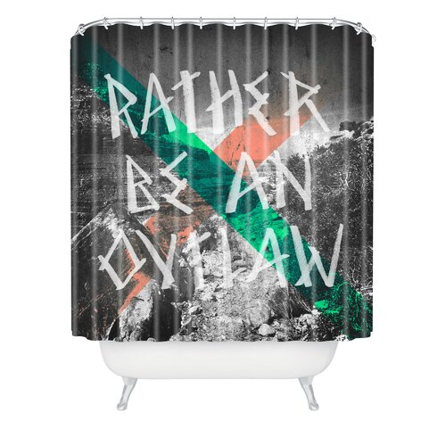 DENY Designs Wesley Bird Polyester Rather Be An Outlaw Shower Curtain