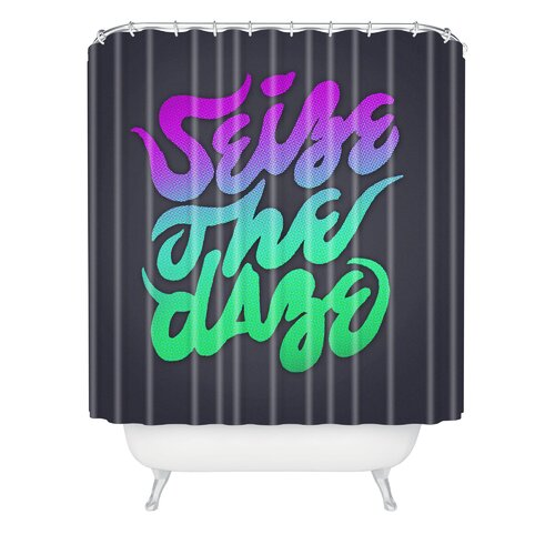 Wesley Bird Polyester Seize The Daze Shower Curtain