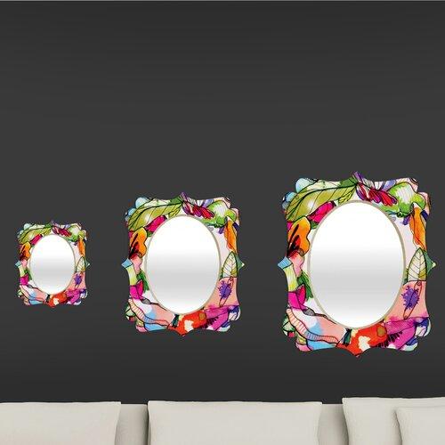 DENY Designs CayenaBlanca Floral Frame Quatrefoil Mirror