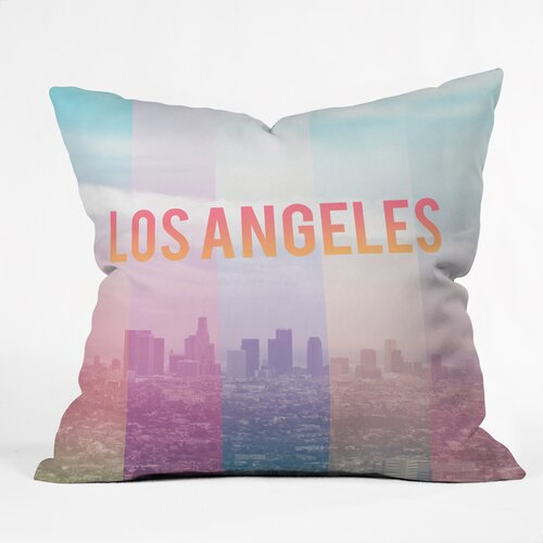 Catherine Mcdonald Los Angeles Outdoor Throw Pillow