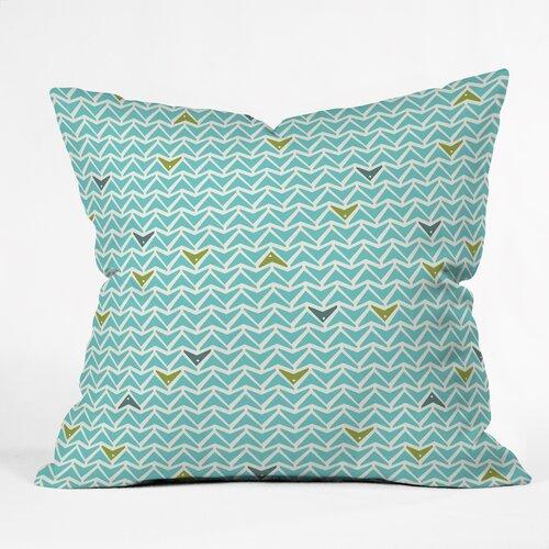 Heather Dutton Take Flight Aqua Outdoor Throw Pillow