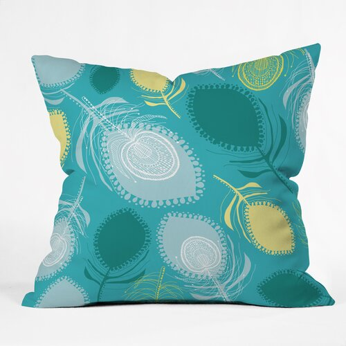 Rachael Taylor Electric Feather Shapes Outdoor Throw Pillow