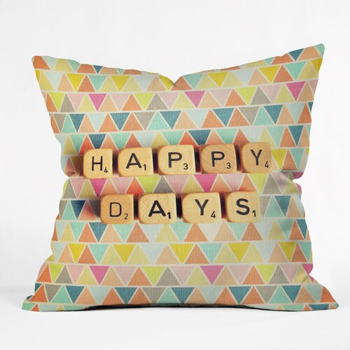 Happee Monkee Happy Days Outdoor Throw Pillow