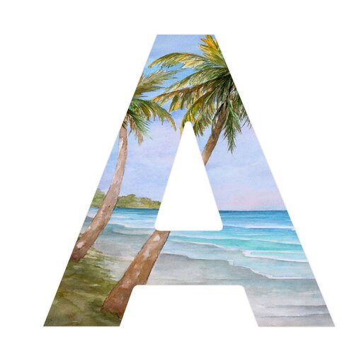 DENY Designs Rosie Brown Swaying Palms Hanging Initial