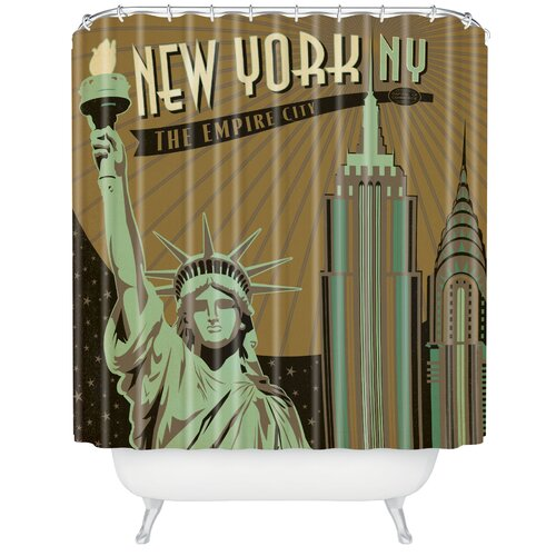 DENY Designs Anderson Design Group Woven Polyester New York Shower Curtain