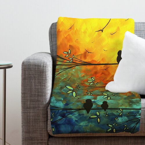 DENY Designs Madart Inc. Birds Of A Feather Polyester Fleece Throw Blanket