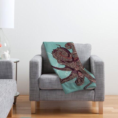 Valentina Ramos Octopus Bloom Fleece Throw Blanket