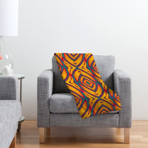 DENY Designs Wagner Campelo Maranta Polyester Fleece Throw Blanket