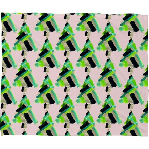 Cayenablanca Patterned Christmas Tree Plush Fleece Throw Blanket