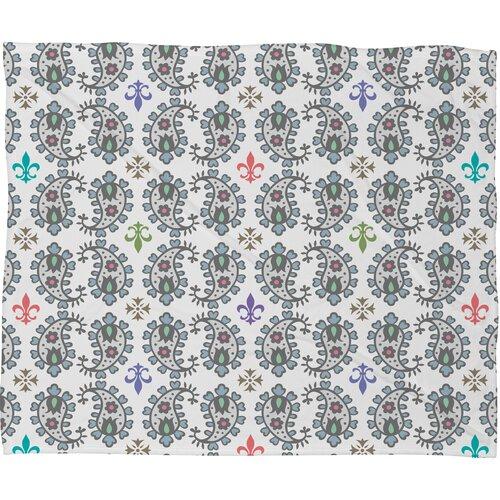 Andi Bird Paisley Ornamental Plush Fleece Throw Blanket