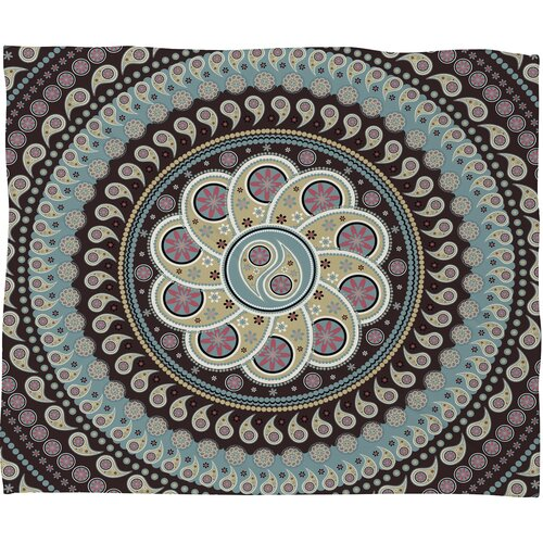 Belle13 Mandala Paisley Polyester Fleece Throw Blanket